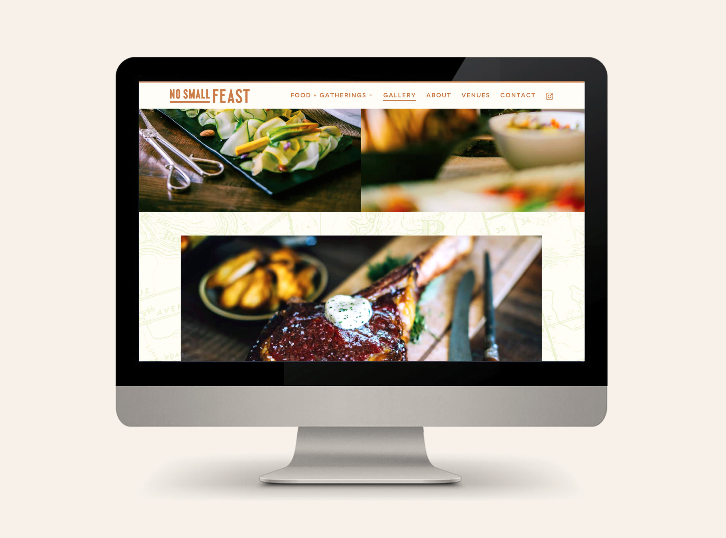 Chad Roberts Design Ltd. No Small Feast Brand Identity Design Website Design Development