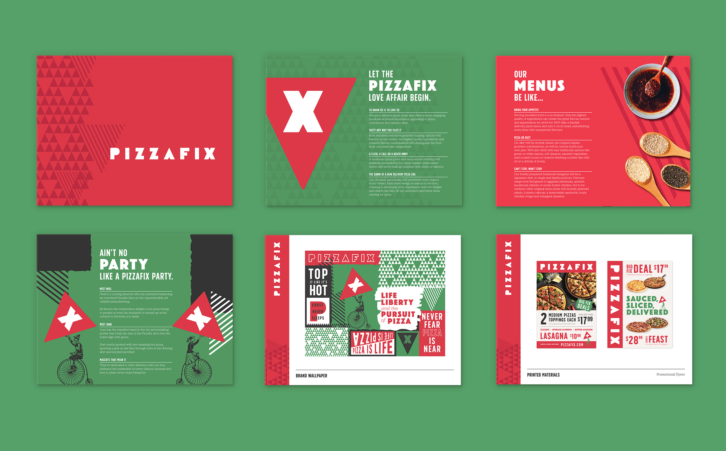 Chad Roberts Design Ltd. Pizzafix Brand Positioning Brand Identity Presentation Document Style