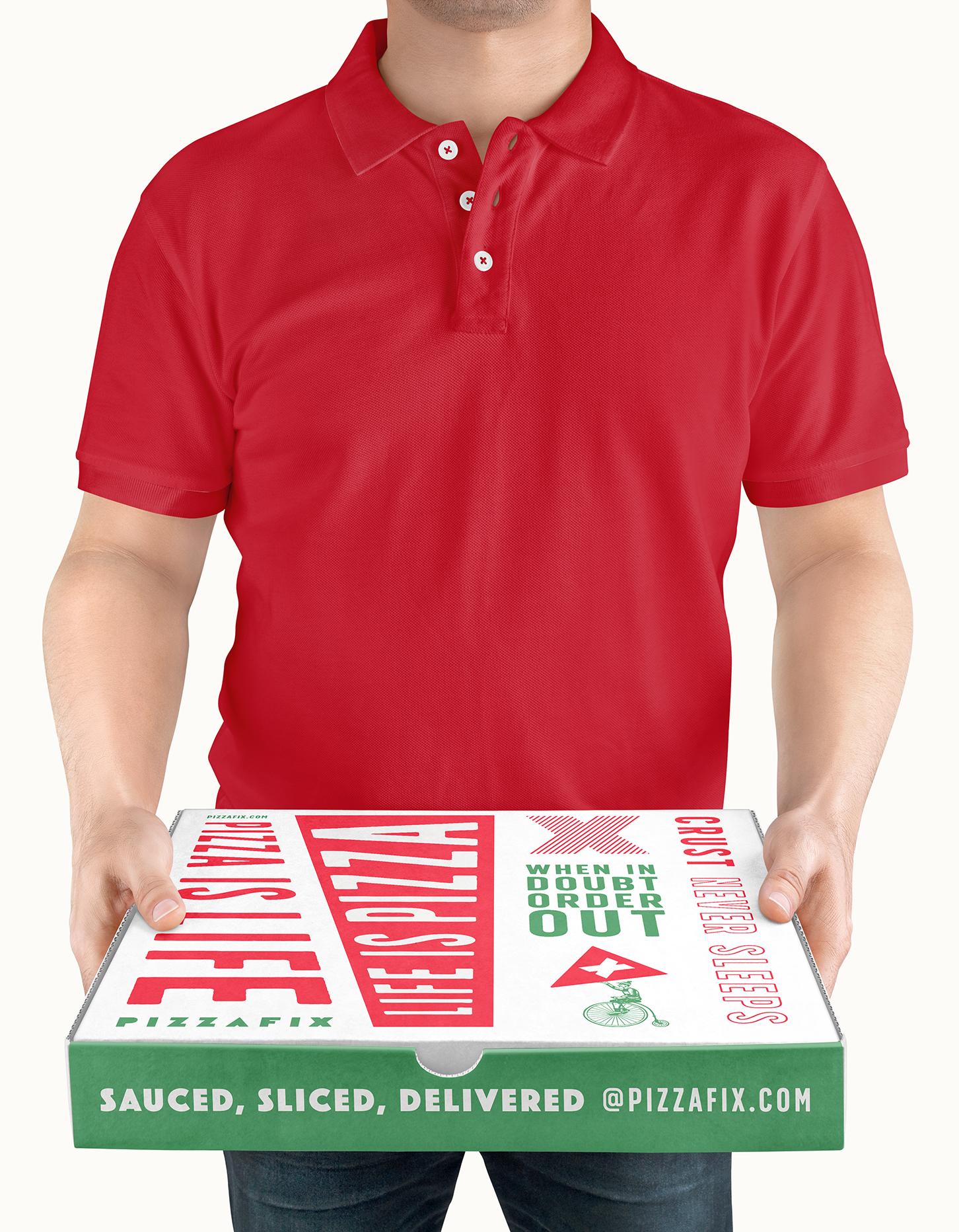 Chad Roberts Design Ltd. Pizzafix Pizza Delivery Box Package Design