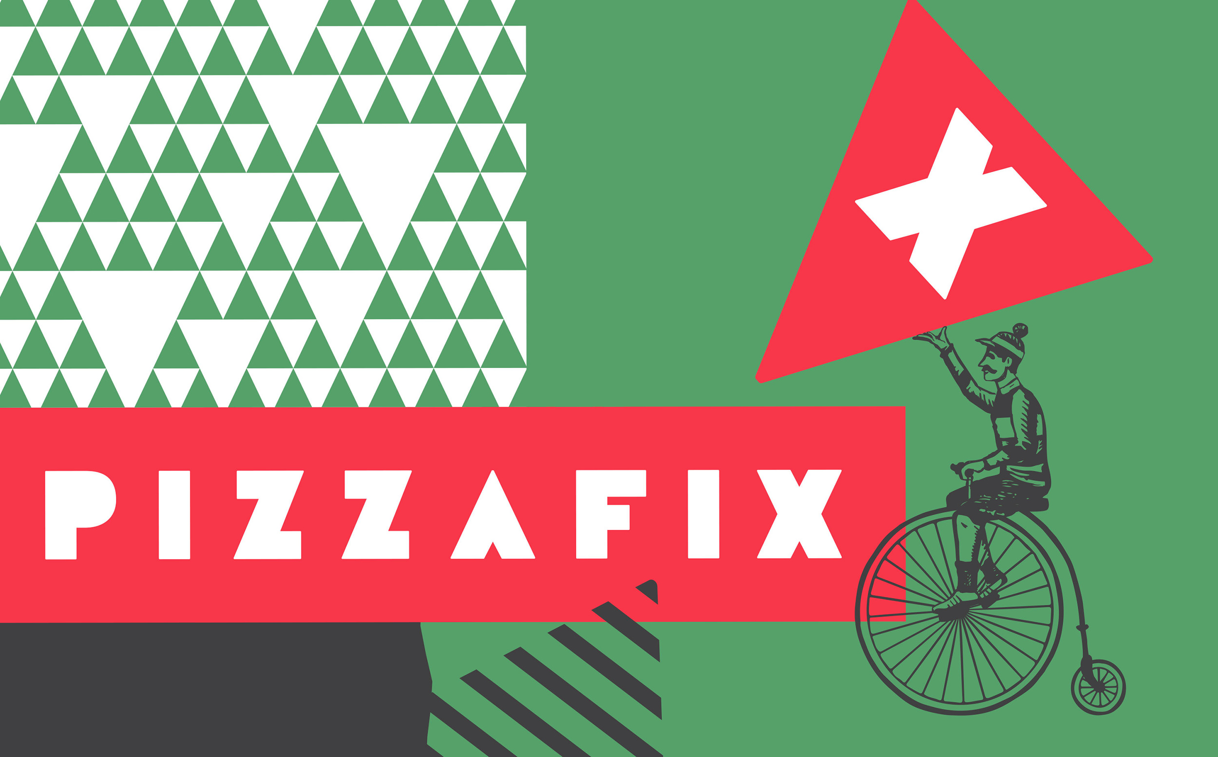 Chad Roberts Design Ltd. Pizzafix Brand Identity Design
