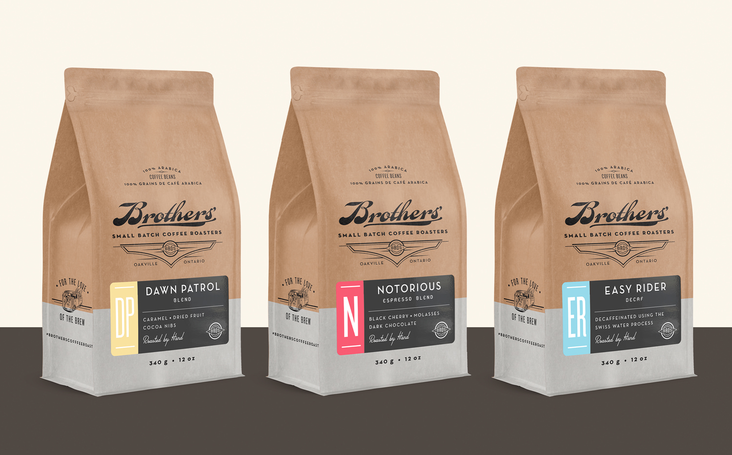Chad Roberts Design Ltd. Brothers Coffee Roasters Brand Identity Package Design