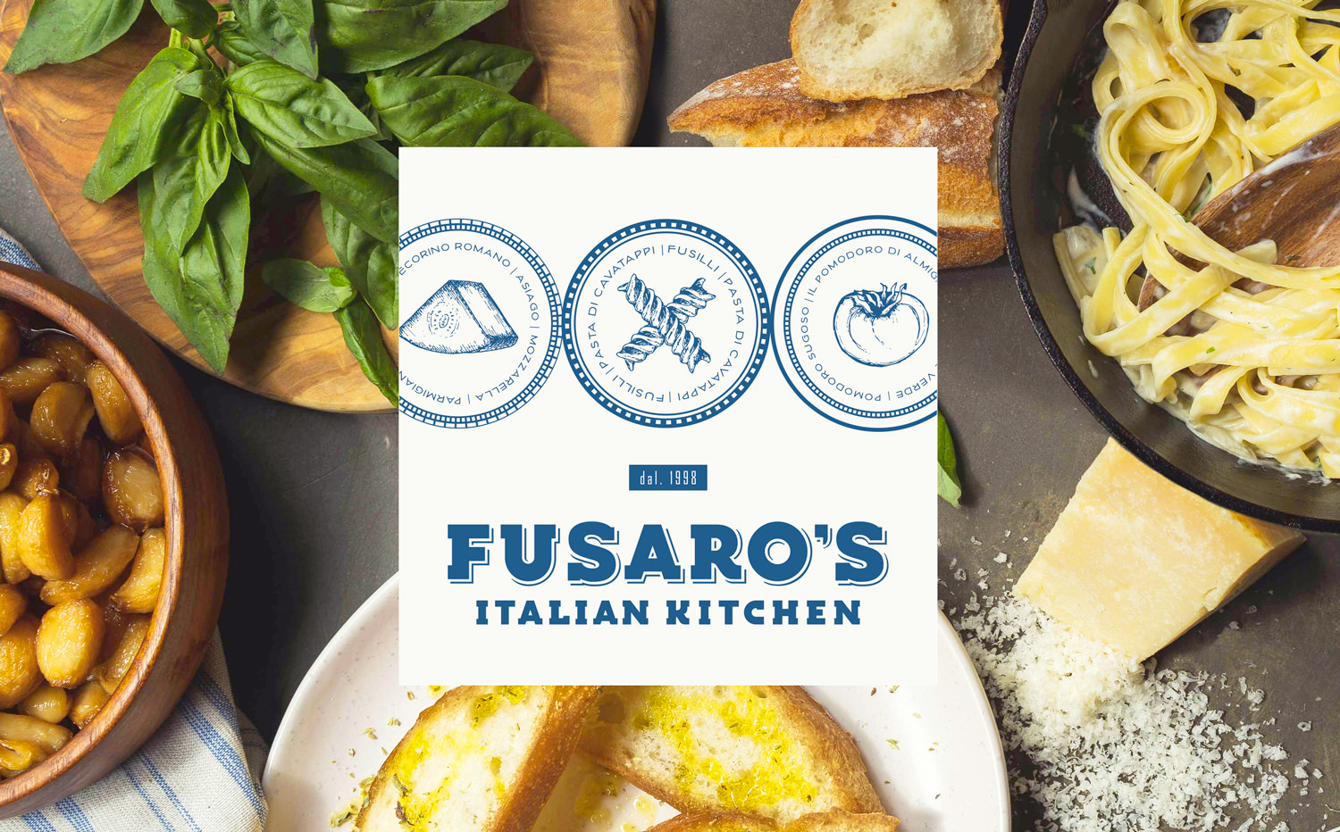 Chad Roberts Design Ltd. Fusaro's Italian Kitchen Brand Identity Design