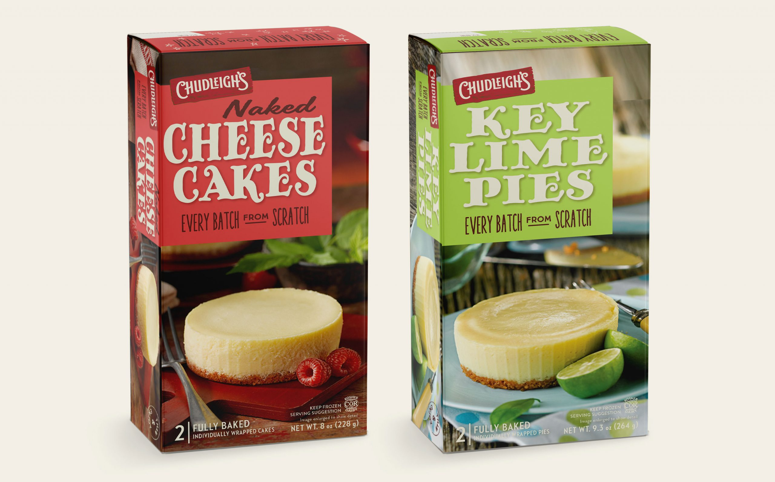 Chad Roberts Design Ltd. Chudleigh's Cheesecakes Chudleigh's Key Lime Pies Package Design