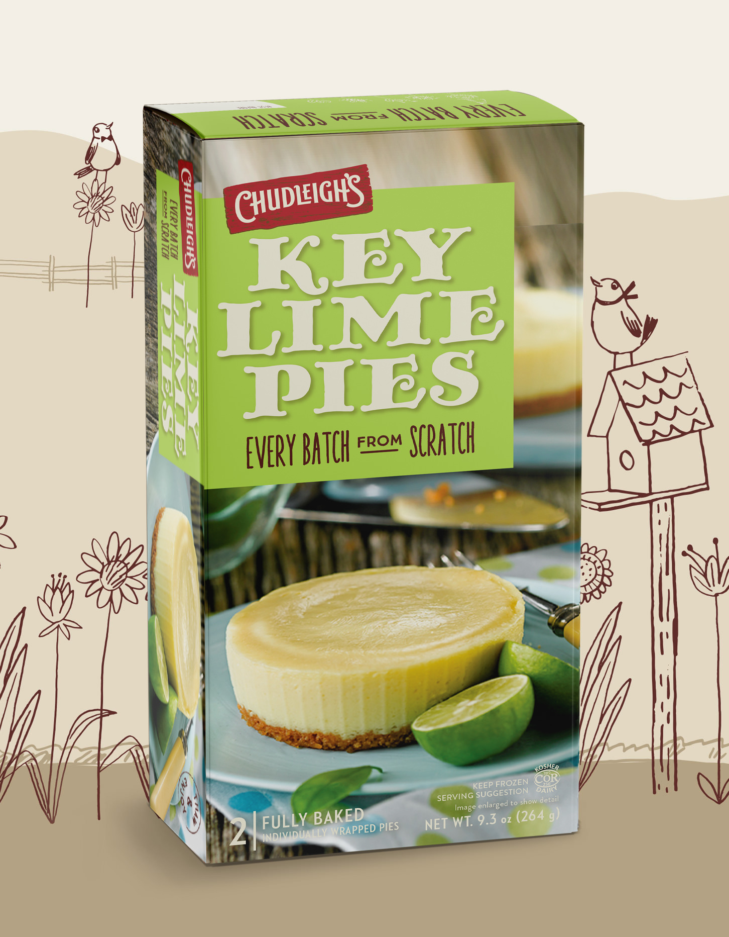 Chad Roberts Design Ltd. Chudleigh's Key Lime Pies Package Design